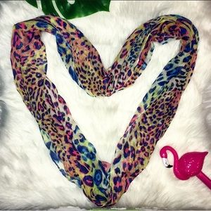 Accessories - Neon leopard print infinity scarf